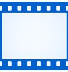 Simple blue film strip background vector image