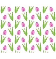 Floral pattern tulip vector