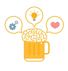 Brain beer ideas vector