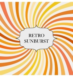 With retro sunburst background vector