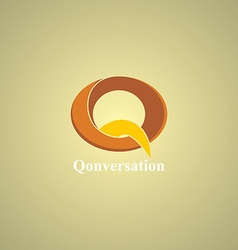 letter theme logo template vector image