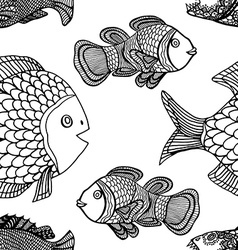Pattern fish vector