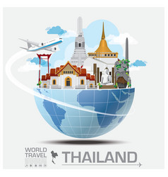 Thailand landmark global travel and journey vector