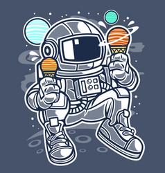 astronaut ice cream vector image