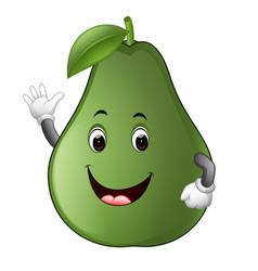 Avocado with face vector