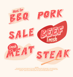 Banners and headers for sale of meat products vector