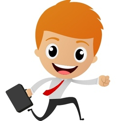 Businessman running to work vector image vector image