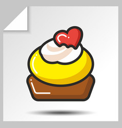 Cakes muffins sweets icons 10 vector