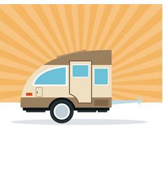 caravan trailer vehicle vector image