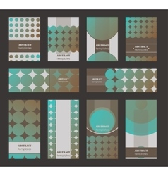 Collection of vertical business cards and vector