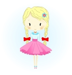 Doll Beautiful Golden Hair vector image vector image