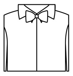 figure sticker shirt with bow tie icon vector image