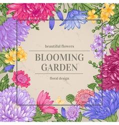 Floral vintage summer background garden vector
