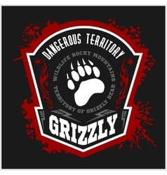 Grizzly bear - military label badges and design vector