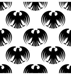 Heraldic seamless pattern of black eagles vector