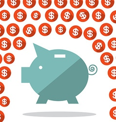 Money Pig and Dollar Rain vector image vector image
