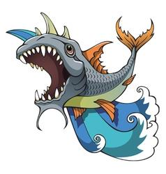 Monster fish vector