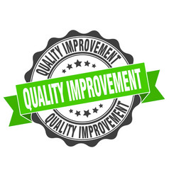 Quality improvement stamp sign seal vector