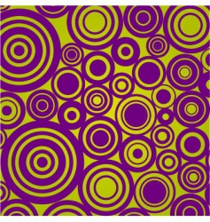 retro circle son olive background vector image vector image