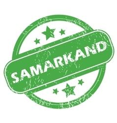 Samarkand green stamp vector