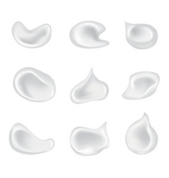 set of isolated skin cosmetic cream vector image