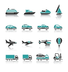 Set of transport icons - one vector