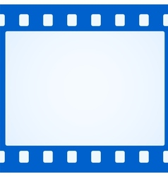 Simple blue film strip background vector image