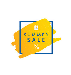 summer sale symbol message in frame vector image vector image