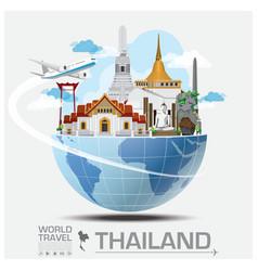 Thailand landmark global travel and journey vector