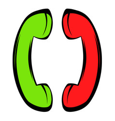 Two handsets icon icon cartoon vector