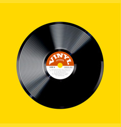 vinyl record photorealistic vector image vector image