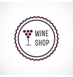 Wine shop vector image vector image