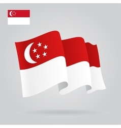 Singapore waving flag vector