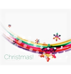 Blurred wave line with snowflakes christmas vector
