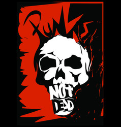 Punk rock skull design vector
