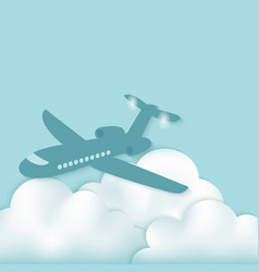 Airplane above clouds vector
