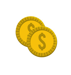 Gold coins money save vector