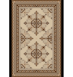 Light carpet with beige and brown shades vector
