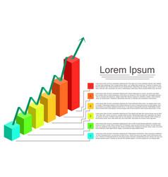 modern design graph vector image
