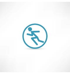 Man running in circle vector image