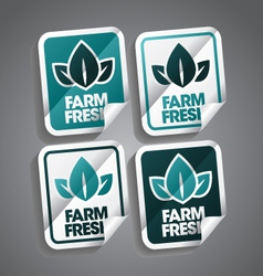 Farm fresh sticker vector