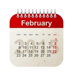 calendar 2015 - february vector image