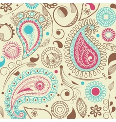 Retro paisley pattern vector