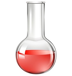 Red liquid ing beaker glass vector