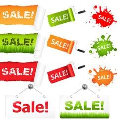 Sale elements vector