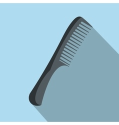 Comb flat icon with shadow vector