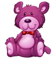 A lavender teddy bear vector