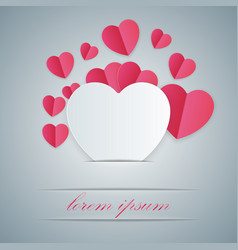 abstract paper hearts valentines day vector image vector image