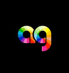 ag a g alphabet letter mosaic design vector image