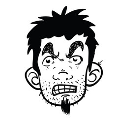 angry face black vector image